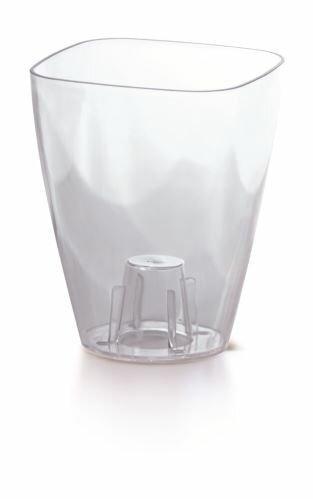 Květináč COUBI ORCHID hranatý bezbarvý transparentní 13,2cm