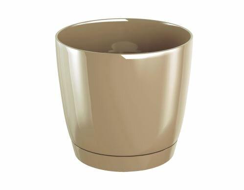 Květináč COUBI ROUND P s miskou káva s mlékem 12cm