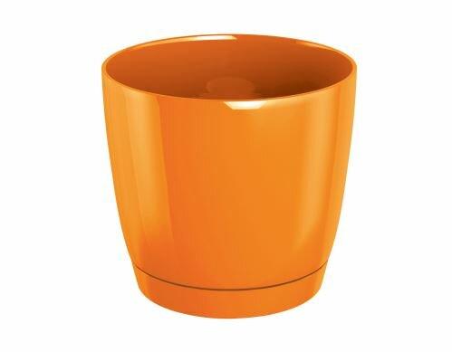 Květináč COUBI ROUND P s miskou oranžový 18cm