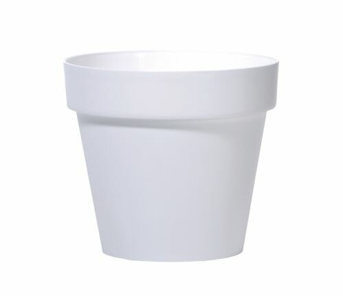 Květináč CUBE bílý 25cm