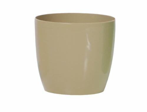Květináč COUBI kulatý káva s mlékem 15cm
