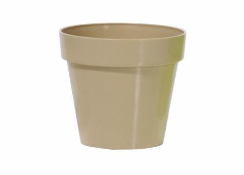 Květináč CUBE SHINE káva s mlékem lesk 25cm