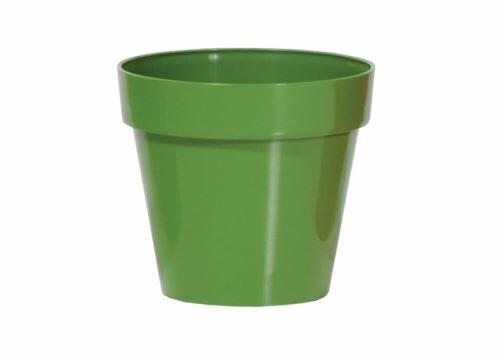 Květináč CUBE SHINE tmavě zelený lesk 25cm