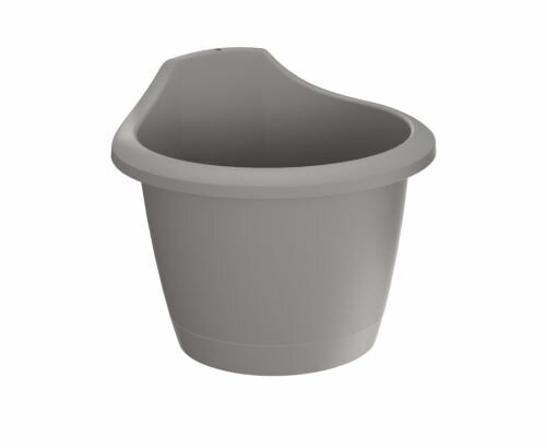 Květináč na zeď RESPANA WALL šedý kámen 22,4 cm
