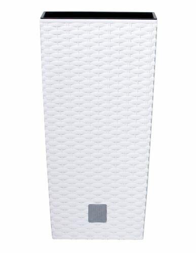 Květináč RATO SQUARE + vklad bílý 17cm