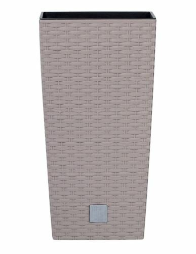 Květináč RATO SQUARE + vklad mocca 28,7 cm