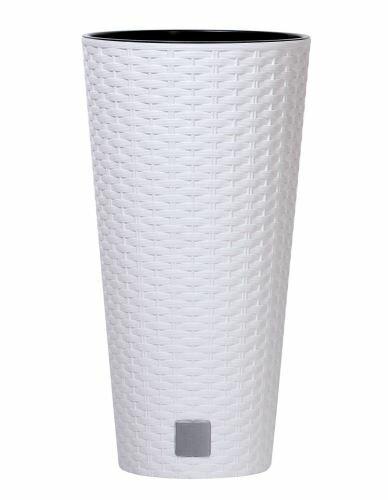 Květináč RATO TUBUS + vklad bílý 40cm