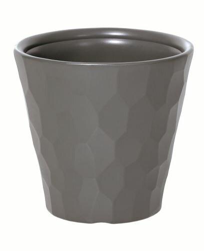 Květináč ROCKA šedý kámen 39,1 cm