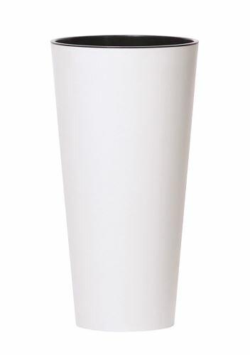 Květináč TUBUS SLIM + vklad bílý mat 25cm