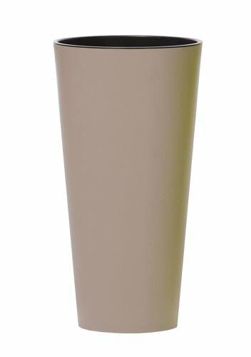 Květináč TUBUS SLIM + vklad mocca mat 15cm