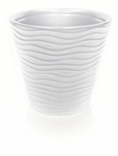 Květináč WAVE bez vkladu bílý 34,2 cm