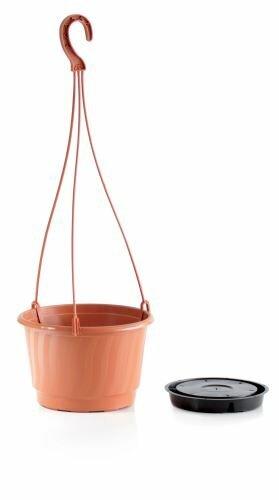 Květináč závěsný PRO terakota 21cm+HÁK a VKLAD 1