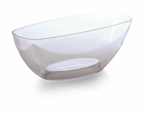 Mísa COUBI ORCHID bezbarvá transparentní 36,0cm