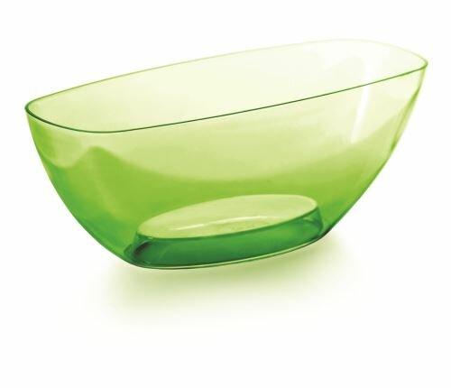 Mísa COUBI ORCHID zelená transparentní 36,0cm