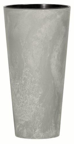 Květináč TUBUS SLIM BETON NEW šedý 25cm