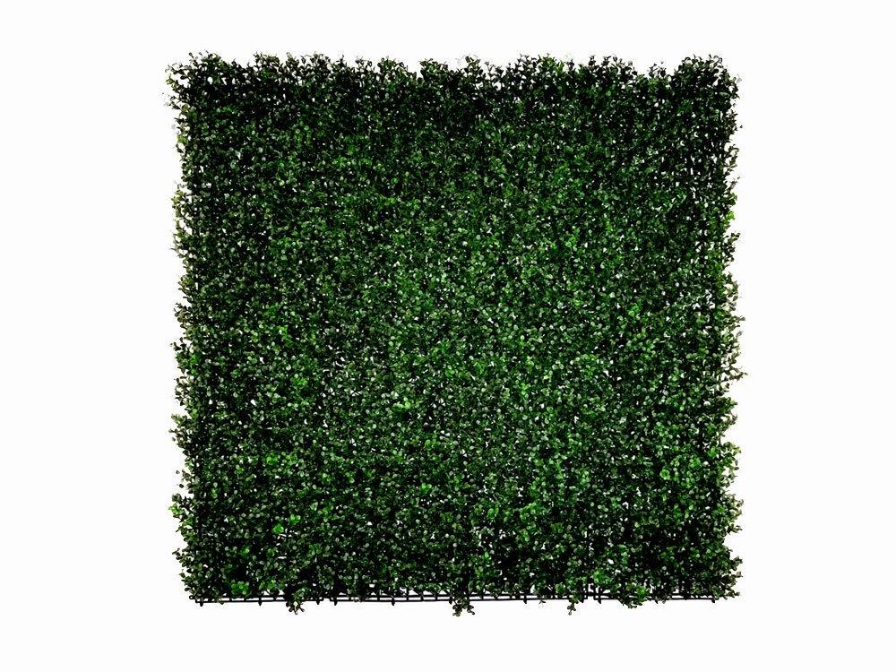 Umělý živý listnatý panel tmavá Zimostráz - 50x50cm