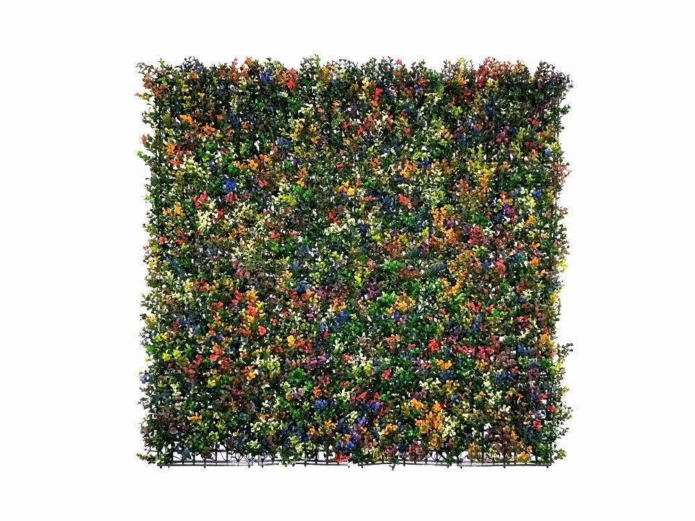Umělý živý ketinový panel Zimostráz vícebarevný - 50x50cm