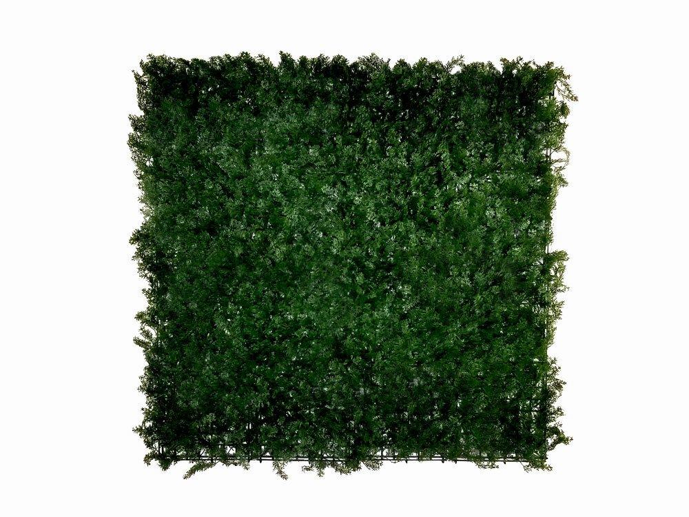 Umelý živý ihličnatý panel tmavý - 50x50cm
