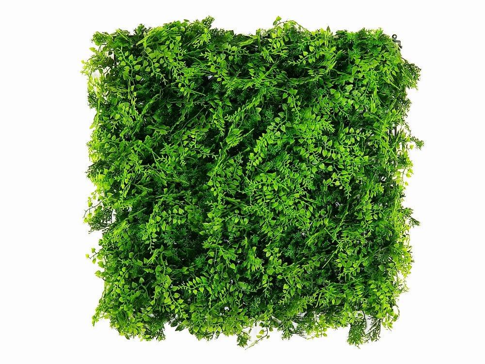 Umělý živý listnatý panel jemná vegetace - 50x50cm