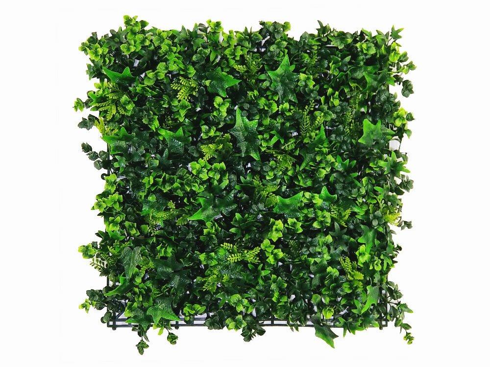 Umělý živý květinový panel Vegetation - 50x50cm