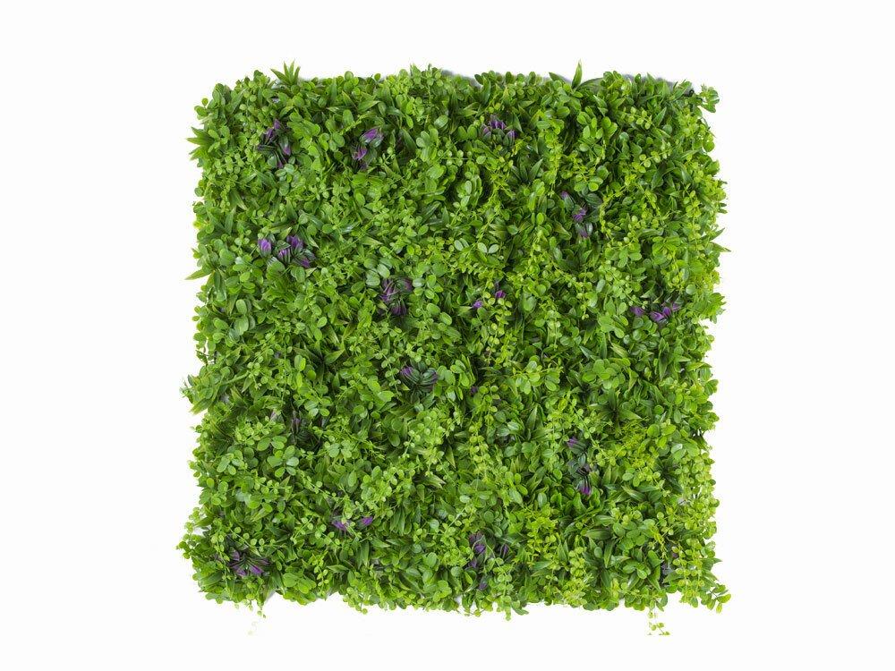 Umělý živý květinový panel Pennywort - 50x50cm