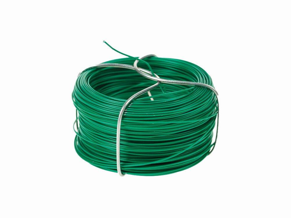 Viazací drôt na umelý živý plot, plastifikovaný zelený 1,2 mm - návin 25 m