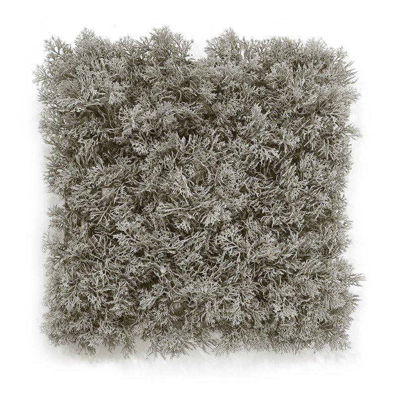 Podložka umělý mech 25x25 cm šedá