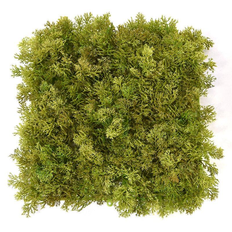 Umělá mechová podložka 25x25 cm zeleno hnědá