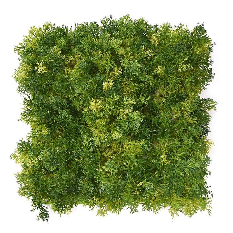 Podložka z umelého machu 25x25 cm zelená