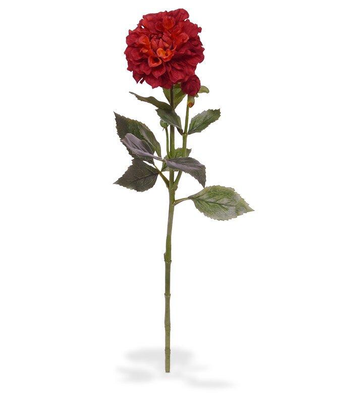 Umelá vetva Dália červená 60 cm