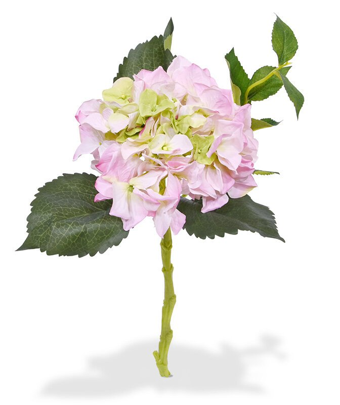 Umelá vetva Hortenzia ružová 38 cm