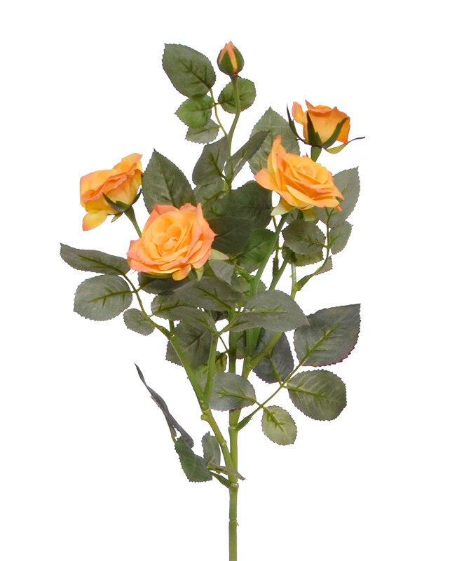 Umelá vetva Ruža oranžová 72 cm