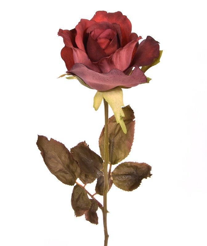 Umelá vetva Ruža červená 60 cm