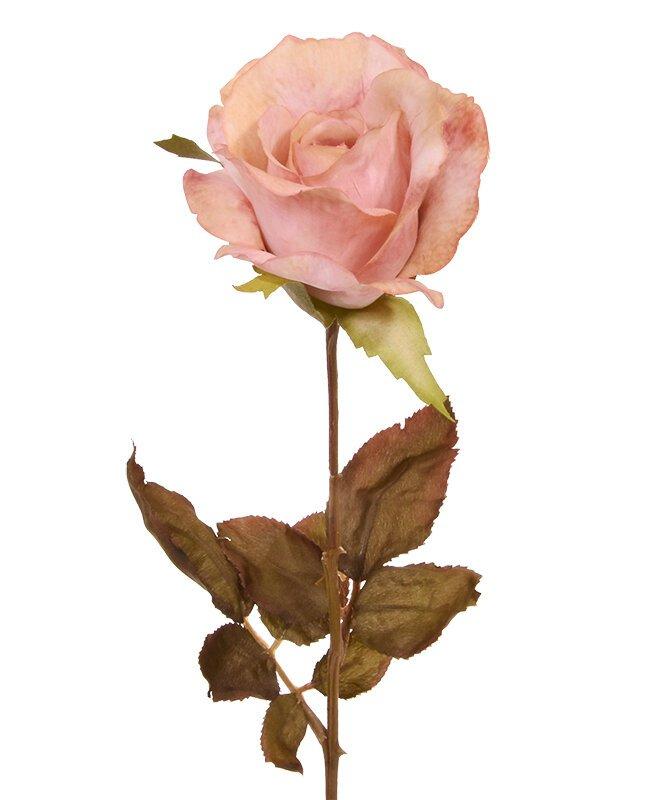 Umelá vetva Ruža ružová 60 cm
