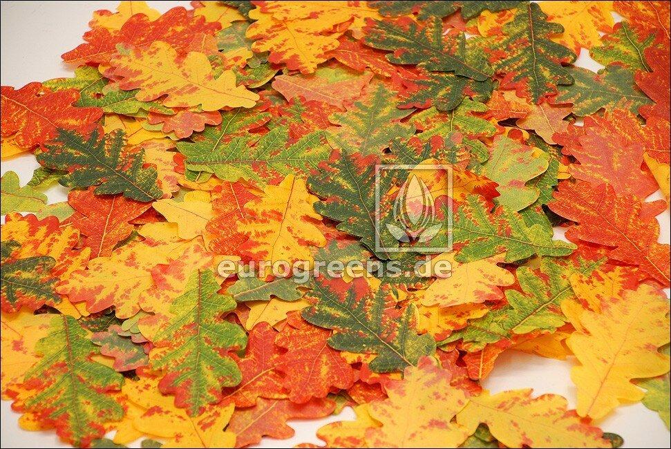 Umělé podzimní dubové listy 1000 ks