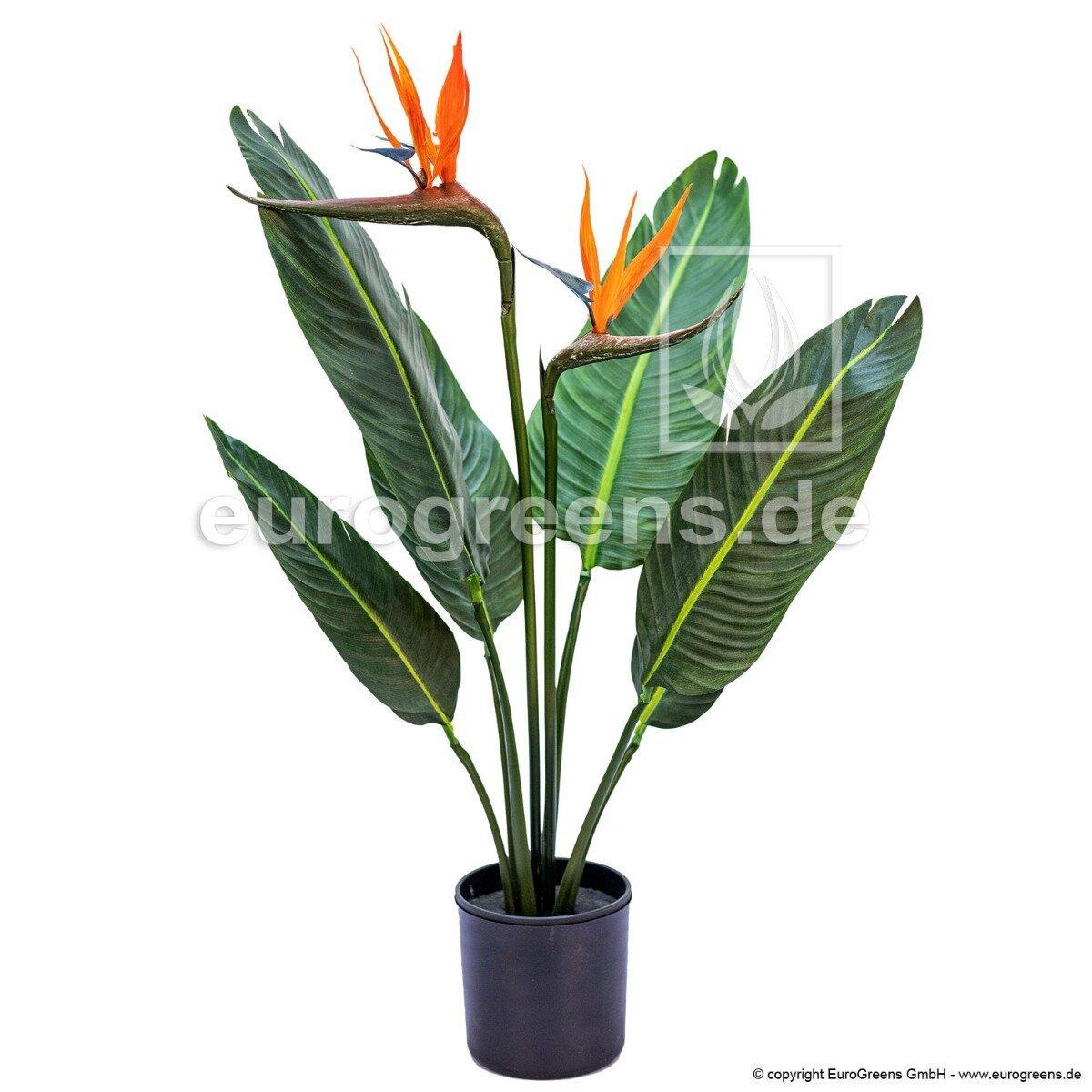Umelá rastlina Strelícia kvitnúca 90 cm