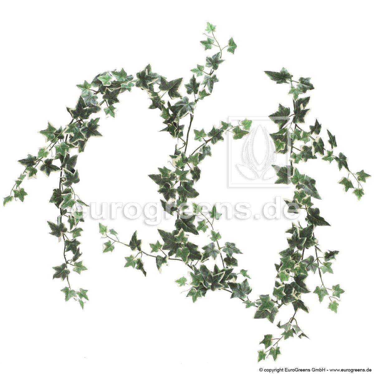 Umelá girlanda brečtan zeleno biela 190 cm