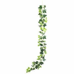 Umelá girlanda Brečtan bielo-zelená 190 cm
