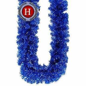 Umelá girlanda Jedľa trblietavá modrá 300 cm