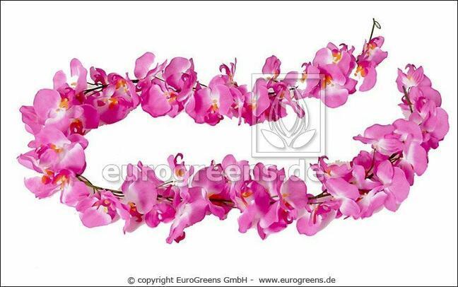 Umelá girlanda Ružová Orchidea 200 cm