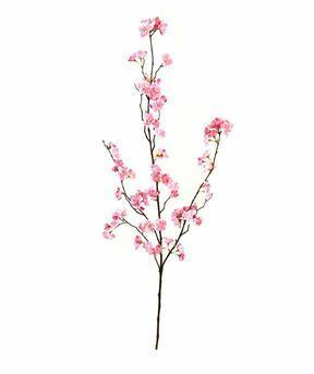 Umelá kvetinová vetva ružová 115 cm