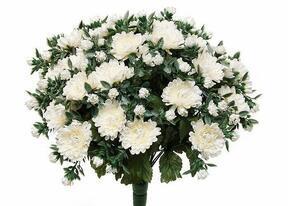 Umelá kytica Chryzantéma biela 35cm