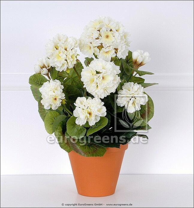 Umelá kytica Pelargónia biela 40 cm