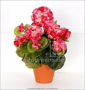 Umelá kytica Pelargónia svetlo-ružová 40 cm