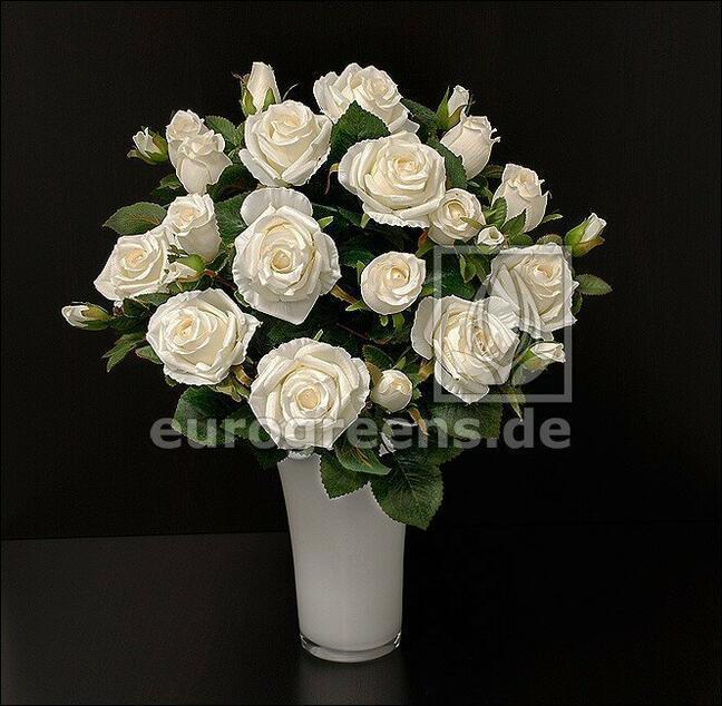 Umelá kytica Ruža krémová 50 cm