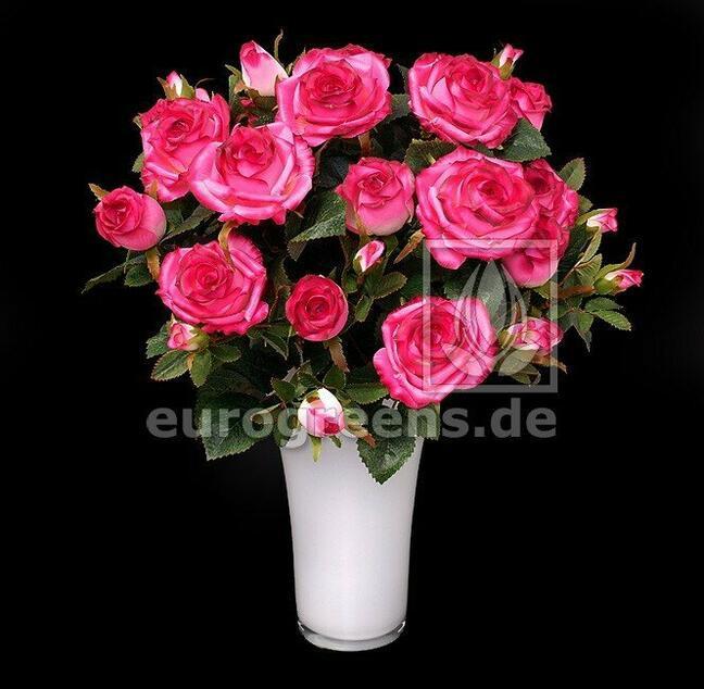 Umelá kytica Ruža ružová 50 cm