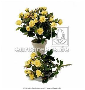 Umelá kytica Ruža žltá 25 cm