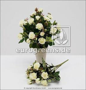 Umelá kytica ruží biela 25 cm
