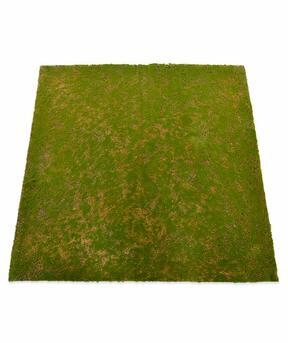 Umelá machová rohožka 100 x 100 cm - zelená