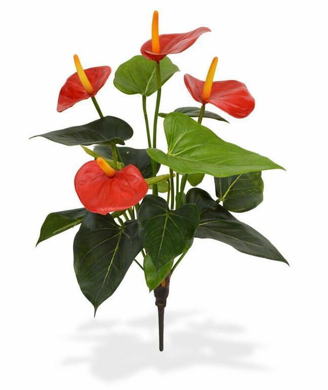 Umelá rastlina Antúria červená 40 cm